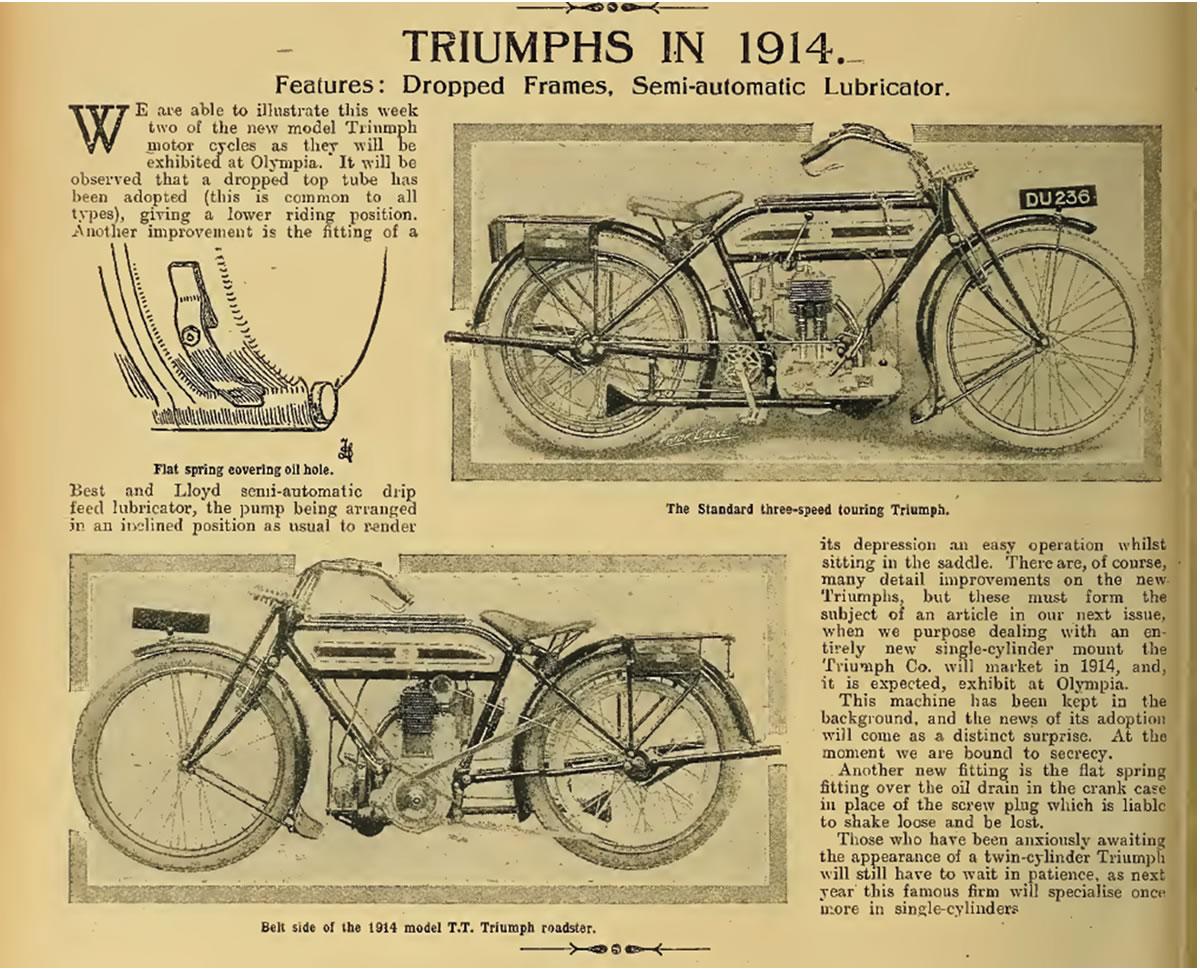 Vintage Veteran Triumph Model P Chain Guard